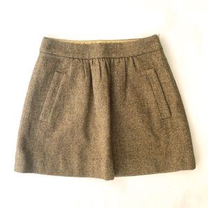 Jcrew Mini tweed skirt brown - size 00